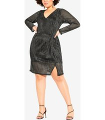city chic women's trendy plus size sparkle dress