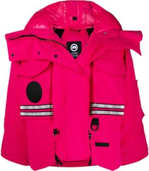 canada goose x angel chen cropped snow mantra jacket - pink