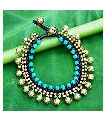 beaded calcite bracelet, 'summer bells' (thailand)