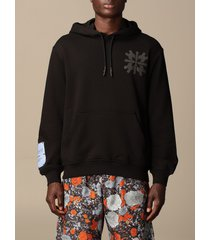 mcq alexander mcqueen mcq sweatshirt ghost by mcq cotton hoodie with back print