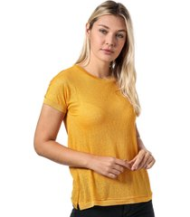 only womens riley jersey t-shirt size 12-14 in yellow