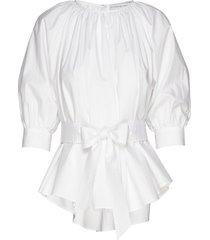 boatneck blouse blus långärmad vit cathrine hammel