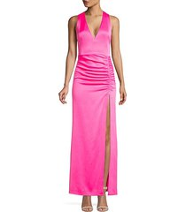 diana sleeveless ruched gown