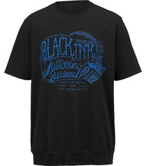 t-shirt men plus zwart::royal blue