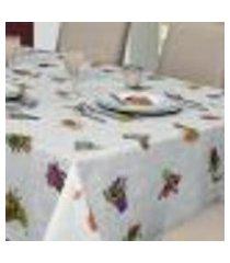toalha de mesa retangular 6 lugares impermeável jardim