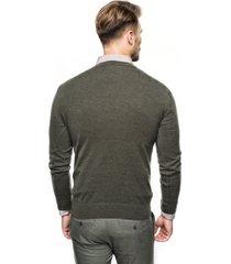 sweter nagel półgolf oliwkowy