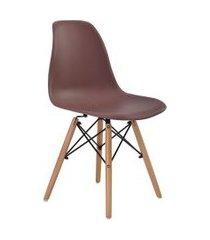 cadeira eiffel sem braço café base madeira rivatti marrom