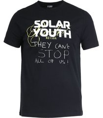 black cotton solar youth t-shirt