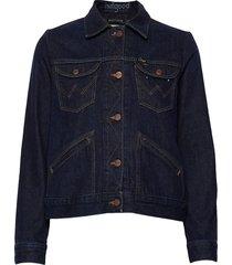 124wj jeansjack denimjack blauw wrangler