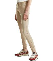 pantalón elástico tobillero beige esprit