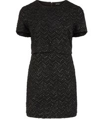curve jurk met zig/zagpatroon