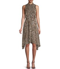 asymmetrical leopard-print dress