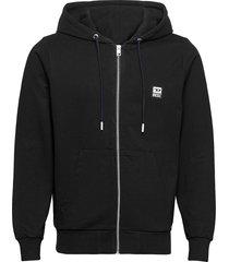 s-girk-hood-zip-k1 sweat-shirt hoodie trui zwart diesel men