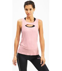 shift knitted training tanktop voor dames, roze, maat l   puma