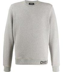 diesel waffle-knit sweatshirt - grey