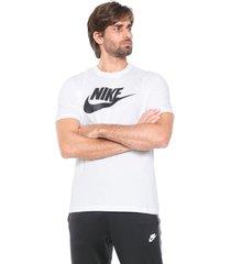 camiseta nike sportswear m nsw icon fut branca - kanui