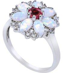 women's flower ring in sterling silver