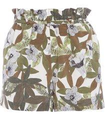 short feminino hanna floral safari - verde