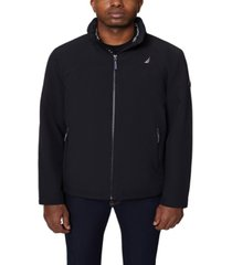 nautica men's big and tall colorblock stretch bomber jacket
