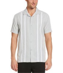 cubavera men's big & tall contrast panel camp shirt
