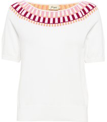 esme stickad tröja vit jumperfabriken
