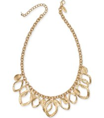 "style & co gold-tone shaky statement necklace, 20"" + 3"" extender, created for macy's"