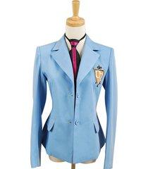 ouran high school host club jacket coat cosplay unisex blue halloween costume