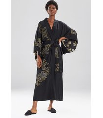 gala silk kimono sleep & lounge bath wrap robe, women's, 100% silk, size l, josie natori