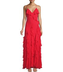 claudine ruffle gown