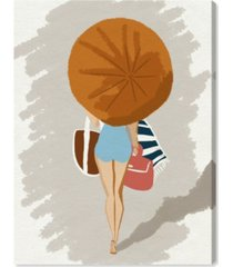"oliver gal beach babe time canvas art - 40"" x 30"" x 1.5"""