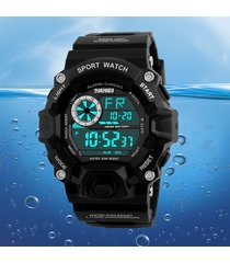 reloj digital deportivo negro skmei hombre militar moda