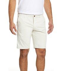men's big & tall tommy bahama boracay cargo shorts, size 44 - white