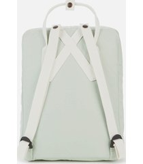 fjallraven women's kanken backpack - mint green/cool white