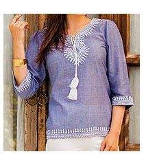 cotton tunic, 'dori delight' (india)