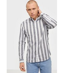 jack & jones jjesummer mix shirt l/s s20 sts skjortor mörk blå