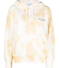 maison labiche out of office-embroidered organic cotton hoodie -