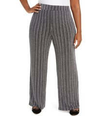 jm collection plus size metallic soft pants, created for macy's