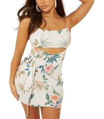 guess keely wrap cutout dress
