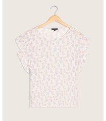 blusa con mangas tipo bolero cuello redondo estampada