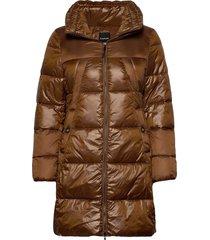 outdoor jacket no wo gevoerde lange jas bruin taifun