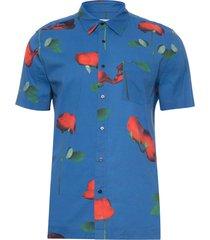 camisa masculina rosa glitch - azul