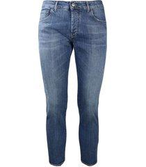 5-pocket regular medium denim jeans with abrasions