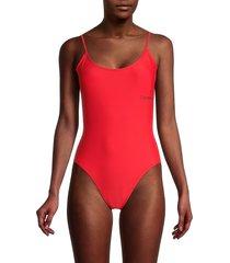 calvin klein women's one-piece swimsuit - black - size xs