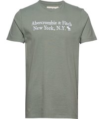 core heritage logo t-shirts short-sleeved grön abercrombie & fitch