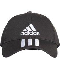 gorra negra adidas  3 rayas classic six-panel du0196  envio gratis*