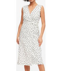 vestido lino wrap blanco banana republic
