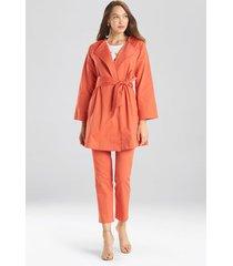 natori cotton twill jacket, women's, chili, size xs natori