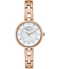 kenneth cole new york ladies mop rosegold tone bracelet watch 32mm