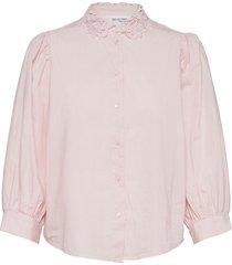 slfromance 3/4 puff sleeve shirt b blouse lange mouwen roze selected femme