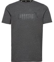 ess heather tee t-shirts short-sleeved grå puma